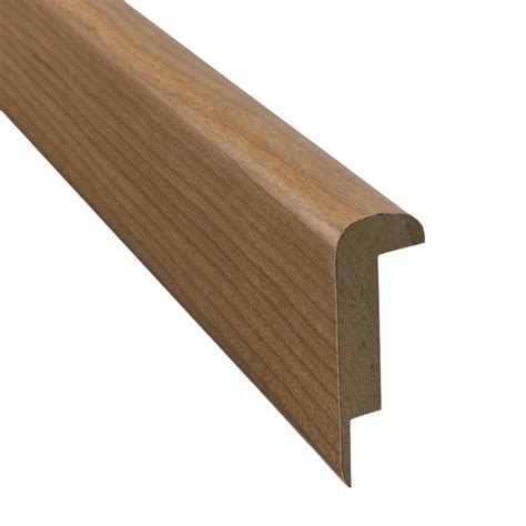 pergo stair nose shop pergo 2 37 in x 78 74 in cherry stair nose floor moulding at lowes com