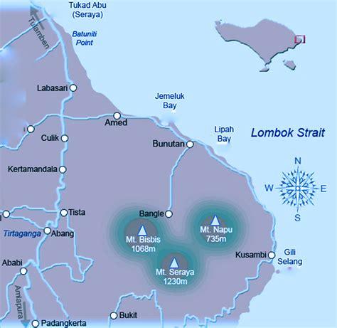 kintamani volcano bali map