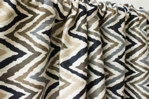 black brown gray ikat chevron window curtain by fabricasia