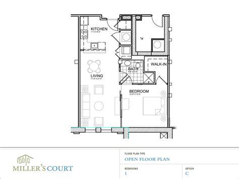 what is open floor plan floor plans
