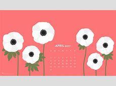 White Anemones April 2017 Calendar Wallpaper Sarah Hearts