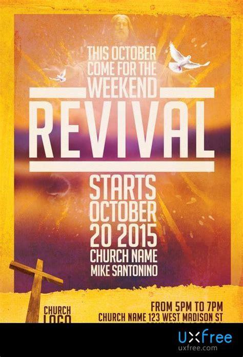 church revival flyer template uxfreecom