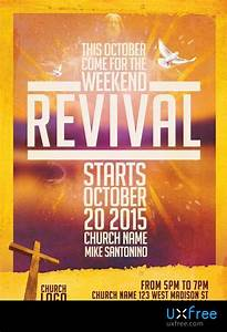 Free Flyer Psd Templates Download Church Revival Flyer Template Uxfree Com
