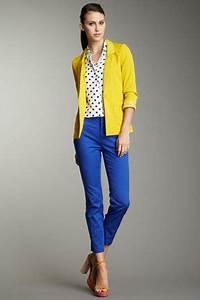 Blue skinny pant with yellow blazer..love it | Mi estilo | Pinterest | Azul rey Pantalon azul ...