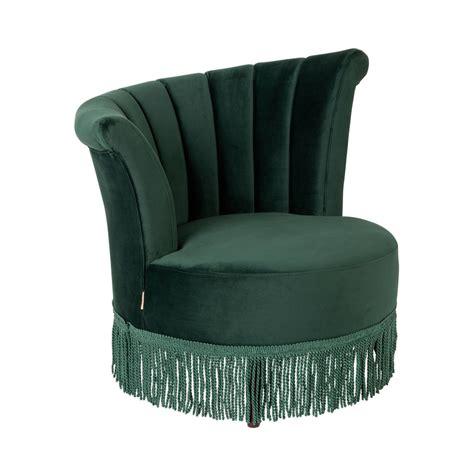 fauteuil vintage 224 franges velours flair dutchbone drawer