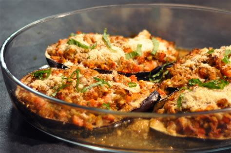 recette aubergines pecorino au  menu  menu
