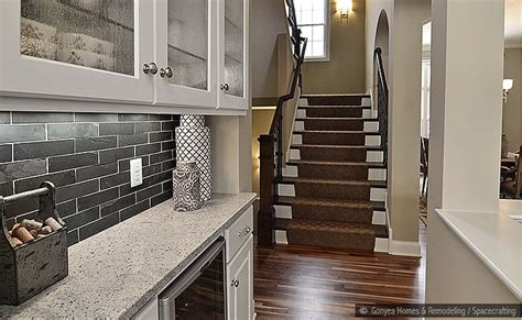 Black Subway Tile Kitchen Backsplash : Black Slate Subway Backsplash Tile Idea