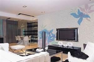 Living Room Tv Wall Ideas (12 Image) | Wall Shelves