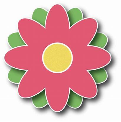 Clipart Flower Flowers Clip Spring Button March