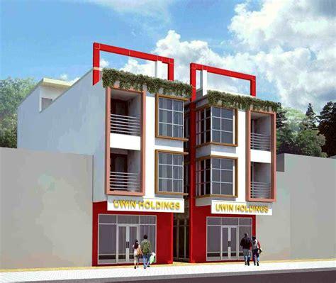desain ruko minimalis modern rumah toko 2768
