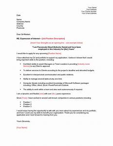 cover letter example expression of interest covering With express of interest cover letter