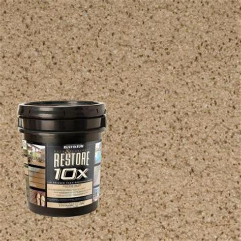 rust oleum restore 4 gal taupe deck and concrete 10x
