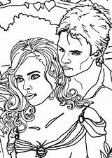 Vampire Coloring Pages Diares Cartoon sketch template