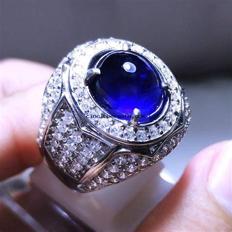 batu mulia safir cincin permata batu blue safir cincinpermata jual batu permata batu mulia asli murah