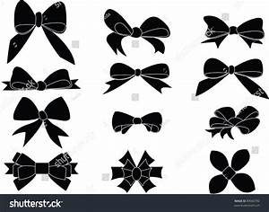 Gift Bows Silhouettes Stock Vector Illustration 89060782 ...