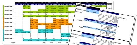 media plan template advertising media plan template for cost analysis and annual calendar small business marketing