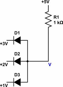 Diode Circuit With Parallel Voltage Source