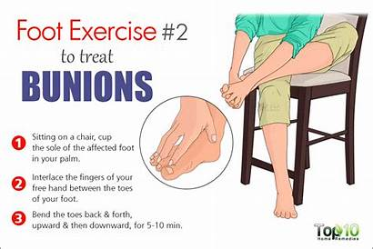 Bunions Exercises Remedies Bunion Foot Exercise Pain