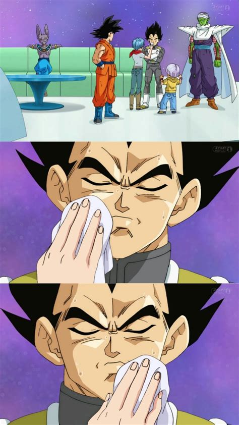 bulma washes vegetas face visit    dragon ball