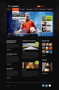 Tv Channel Website Template  37505