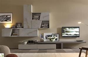 Parete attrezzata design in pietra Luvex Arredo Design