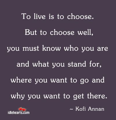 how to choose where to live to live is to choose but to choose well you must know who you are and what you stand for