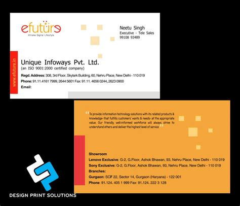 visiting cards designing  printing services company