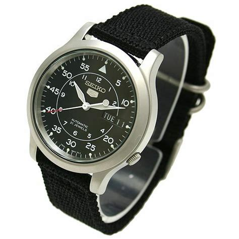New Seiko Snk809k2 Automatic Military Watch (cal.7s26c