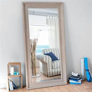 Miroir 180 Cm : miroir beige vieilli h 180 cm sully antique maisons du monde ~ Teatrodelosmanantiales.com Idées de Décoration