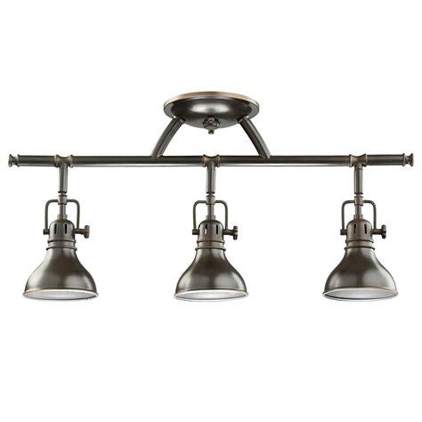 kichler adjustable rail light for ceiling or wall 7050oz destination lighting
