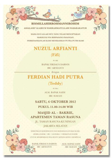 contoh invitation card wedding contoh