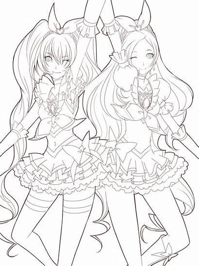 Anime Coloring Printable Colorear Manga Dibujos Ausmalbilder