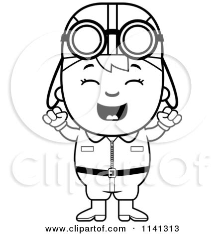 11742 pilot clipart black and white pilot clipart black and white vector clip of a black