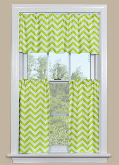 kitchen or bathroom window curtain chevron pattern in