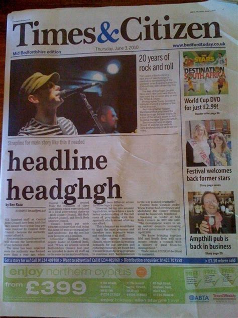 uk newspaper times citizen flubs front page headline