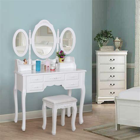 bedroom vanity desk songmics dressing table set vintage bedroom vanity desk