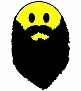 Hipster beard yellow smiley face Planet Jive