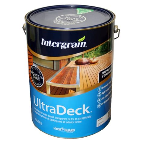 intergrain ultradeck water based decking coatings