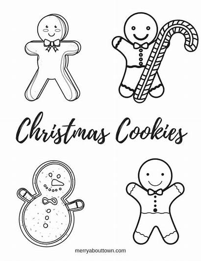 Cookies Christmas Coloring Pages Colouring Sheet Printables