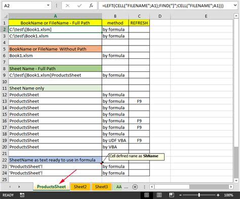 formula excel sheet