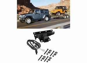 Jeep Tow Combo  2 U0026quot  Receiver Hitch  U0026 Wiring Harness For
