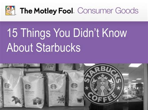 15 things you didn 39 t know about starbucks