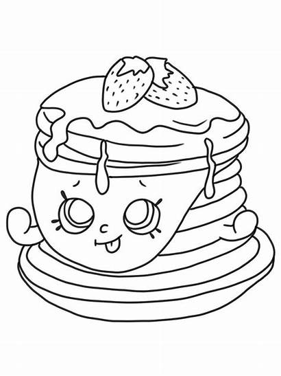 Shopkins Coloring Pancakes Berry Sweet Gaddynippercrayons Printable