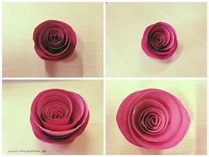 Einfache Papierblume Basteln : papierblumen einfach basteln anleitung papierrosen ~ Eleganceandgraceweddings.com Haus und Dekorationen
