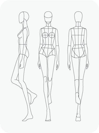fashion figure templates pret  template