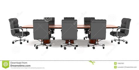 conference table and office chairs stock image image
