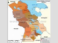 Karelia Map, Republic of Karelia, Russia