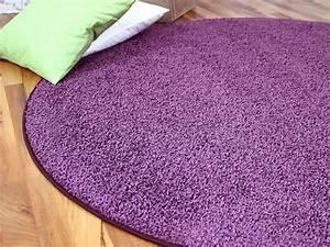 Teppich Lila Weiß : teppich rund lila hause deko ideen ~ Indierocktalk.com Haus und Dekorationen
