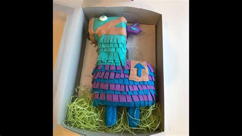 fortnite loot llama cake     niece abbys
