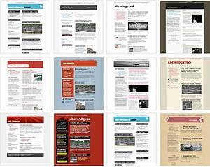 100 free html email newsletter templates patternhead for Free online newsletter templates for email